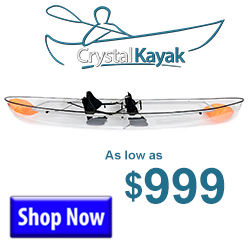 Buy a Crystal Kayak For As Low As $999
