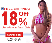 Semi-Annual Flash Sale!18% Off   Code: SEM !Only 3 Days! Free Shipping Worldwide!