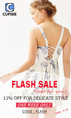 Flash Sale–Just for you!13% OFF for Delicate Style!One week only!Code?flash!Free Shipping Worldwide!
