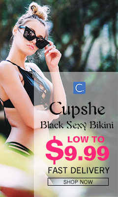 Cupshe Black Sexy Bikini! Low to $9.99! Fast Delivery!