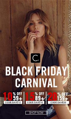 Black Friday Carnival! 10% OFF 59+ CODE:SAVE10; 15% OFF 89+ CODE:SAVE15; 20% OFF 159+ CODE:SAVE20! Shop Now!