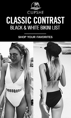 Classic Contrast! Black & White Bikini List! Shop Your Favorites! Free Shipping!