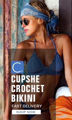 Cupshe Crochet bikini! Fast Delivery! Shop Now!