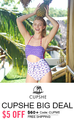 Cupshe Big Deal! $5 Off $60+ Code: CUPM5! Free Shipping!