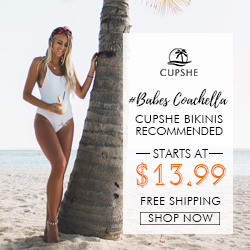 Cupshe Bikinis Recommended! Starts At $13.99! Free Shipping! Shop Now!