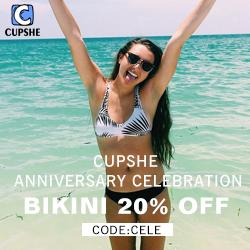 CUPSHE Anniversary Celebration! Bikini 20% OFF Code:CELE! Free Shipping!