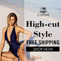 Cupshe High-cut Style! Free Shipping ! Shop Now!