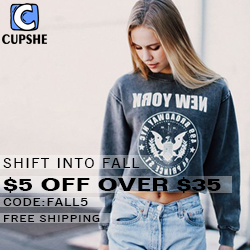 Shift Into Fall! $5 OFF Over $35 Code:FALL5! Free Shipping!