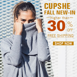 Cupshe Fall New-In! Higher than 30% Off! Free Shipping! Shop Now!