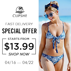 Cupshe Special Offer! Starts From $13.99! Fast Delivery! Shop Now!