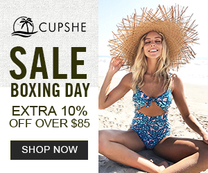 Boxing Day Sale! Extra 10% OFF for $85+, Site Wide! Get the Code!