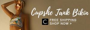 Cupshe Tank Bikin! Free Shipping! Shop Now!