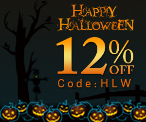 Halloween Sale! 12% Off Code:HLW! Free Shipping!