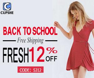 Back to School! Fresh 12% Off Code:SJ12!Free Shipping Worldwide!