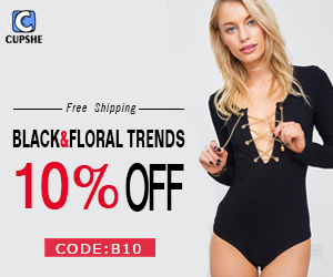 Black & Floral Trends!10% Off Code:B10 !Free Shipping Worldwide!