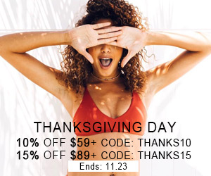 Thanksgiving Day! 10% OFF $59+ CODE: THANKS10; 15% OFF $89+ CODE: THANKS15!