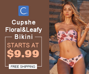 Cupshe Floral&Leafy Bikini! Starts At $9.99!Free Shipping!