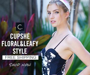 Cupshe Floral&Leafy Style! Free Shipping! Shop Now!