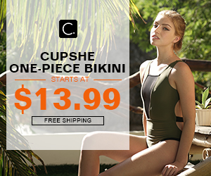 Cupshe One-piece Bikini! Starts at $13.99! Free Shipping! Shop Now!