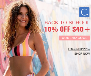 Back To School!10% Off $40+ Code:BACOOL!Free Shipping!