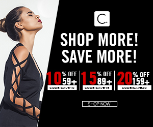Shop More! Save More! 10% OFF 59+ CODE:SAVE10; 15% OFF 89+ CODE:SAVE15; 20% OFF 159+ CODE:SAVE20! Shop Now!