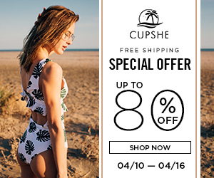 Cupshe Special Offer! Up to 80% Off! Free Shipping! Shop Now!