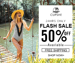Cupshe Flash Sale! 50% Off Available! 24hours Only! Free Shipping! Shop Now!