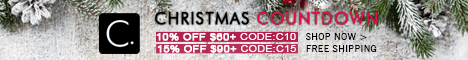 Christmas Countdown! 10% Off $60+ Code: C10; 15% Off $90+ Code: C15! Free Shipping! Shop Now!