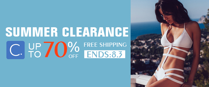 Summer Clearance! Up to 70% Off! Free Shipping!