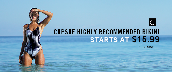 Cupshe Highly Recommended Bikini! Starts at $15.99! Free Shipping! Shop Now!