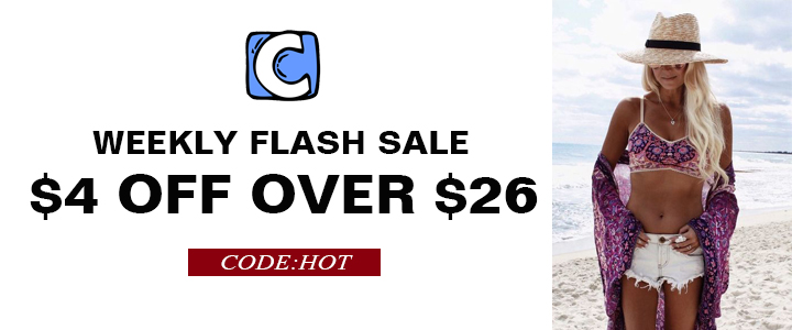 Weekly Flash Sale!$4 OFF Over $26 Code:HOT! Free Shipping!