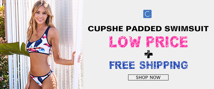 Cupshe Padded Swimsuit!Low Price+Free Shipping!Shop Now!