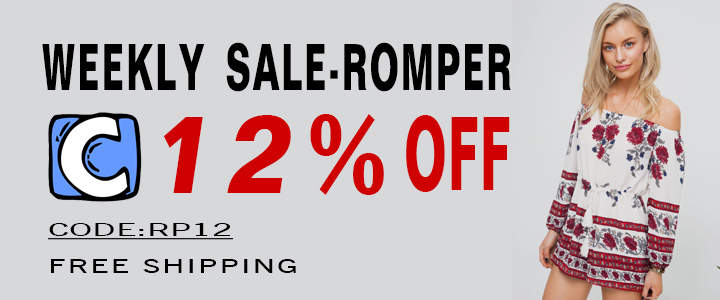 CUPSHE Weekly Sale--Romper!12% Off Code:RP12! Free Shipping!