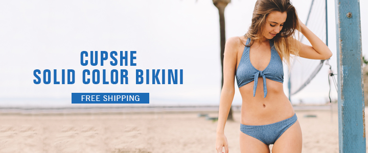 Cupshe Solid Color Bikini!Fast Delivery! Shop Now!