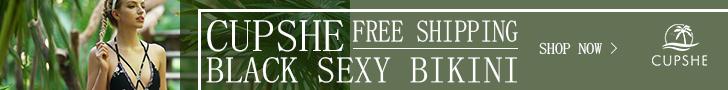 Cupshe Black Sexy Bikini! Free Shipping! Shop Now!
