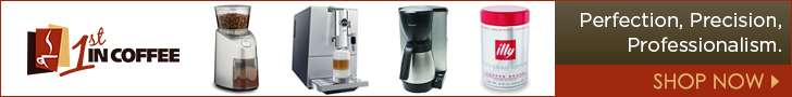 1st in coffee get your coffee beans, maker or grinder here