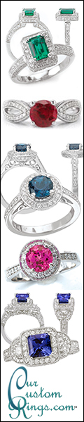 Our Custom Wedding Rings - Freedom of Expression with a Twist of Color