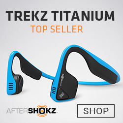 treks titanium wireless head phones by aftershocks