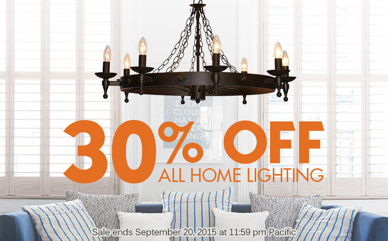 30% OFF All Home Lighting