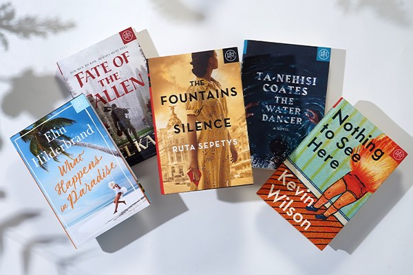 five books on a white background