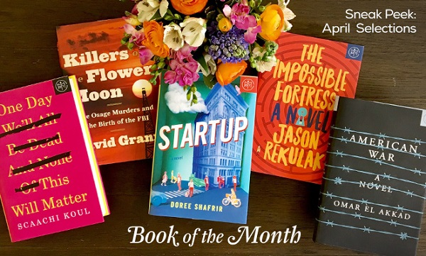 Book of the Month Club April 2017 Selections