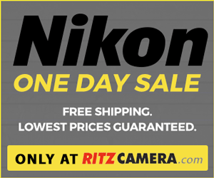 Nikon Day Sale, includes free shipping. Low prices guaranteed for one day only.