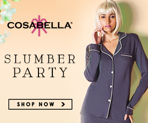 Cosabella's Gift Shop Now Open!  Meet the different sides of Cosabella:  The Sexy Side of Holiday, Slumber Party and various Gift Sets and give the gift of Cosabella!  All USA orders over $100 receive free ground shipping in continental USA.