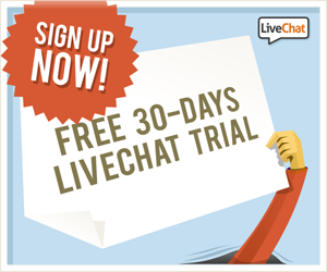 Get LiveChat on your site and start chatting with clients!