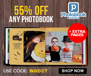 55% OFF Photobooks + Extra 55% OFF additional pages & accessories. Use code: WHOCT