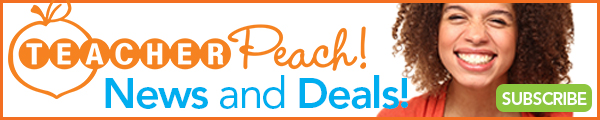 Sign Up for Teacher Peach News and Deals