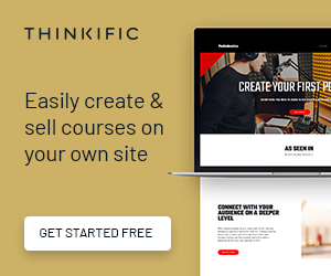 thinkific online courses banner