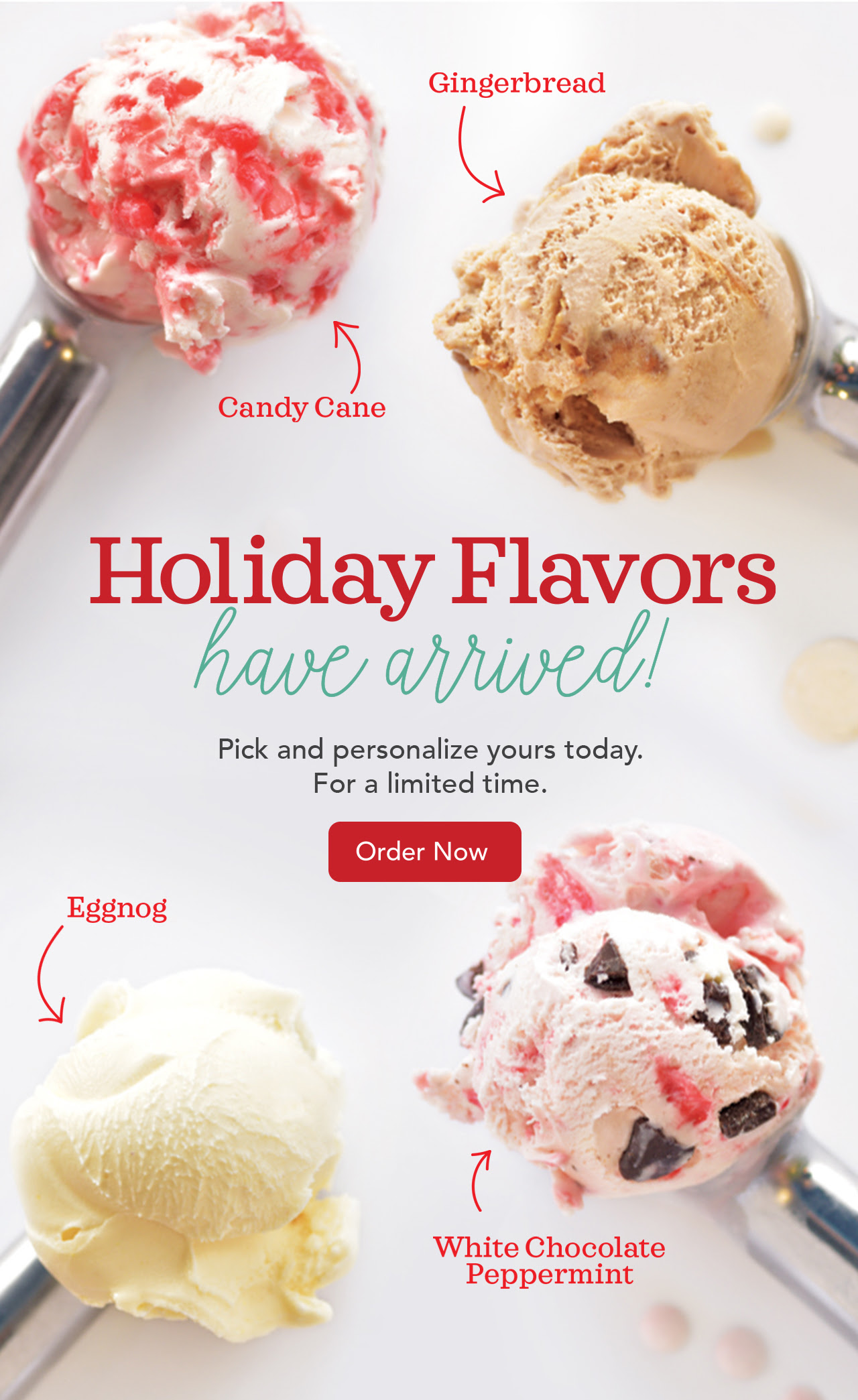 Ecreamery Holiday Flavors