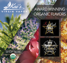 Kai's Virgin Vapor Award Winning Premium Organic E-Liquid