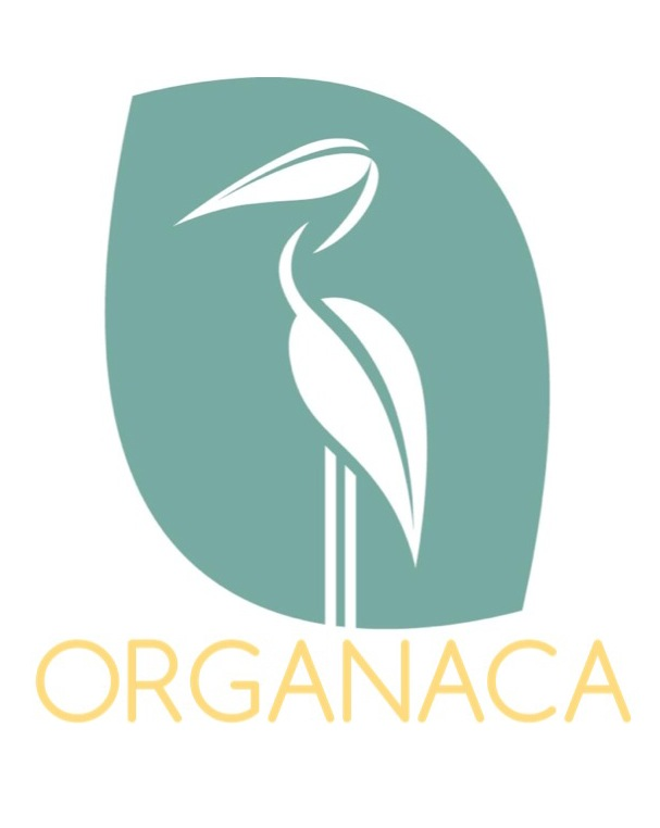 Organaca bird and text